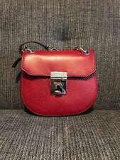 ffe3f355b Brand New Michael Kors CECELIA Mini Saddle Pebbled Leather Crossbody Bag  CHERRY