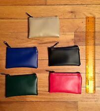 "MINI Vinyl Bank Deposit Money Zipper Bag - Cash Coins Organizer 5"" X 3.5"""