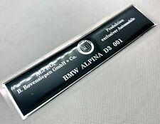 BMW Alpina D3 001 ID Logo 3D Domed Badge Sticker. Silver. Size 118x28mm.