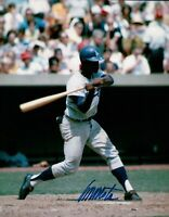 Manny Mota Signed 8X10 Photo Autograph Los Angeles Dodgers Road At Bat Auto COA