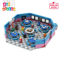 Restaurant Among Us with 8 Minifigures Building Blocks Toys Set for Kids Adults