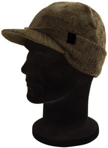 Fox Khaki Black Peaked Beanie Winter Hat CHH002