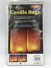 Illuminess Candle Bags For Tea Lights Use Patio Drive Garden Pack 5 Sun Pattern