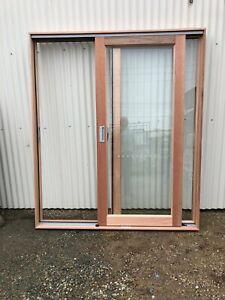 Meranti SLIDING DOOR 2107h x 1810w DOUBLE GLAZED NEW