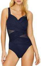 Miraclesuit MIDNIGHT Madero Underwire One-Piece Swimsuit, US 10