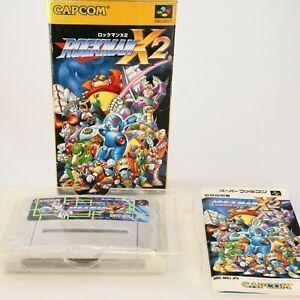 ROCKMAN Megaman X 2 Super Famicom Nintendo SNES Japanese