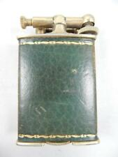 CLARK VINTAGE, 18 KT GOLD ELECTRO PLATED, LEATHER WRAPPED LIGHTER   #AA15