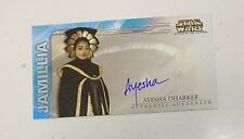Star Wars Attack Of The Clones Topps Widevision Auto Card JAMILLA Ayesha Dharker