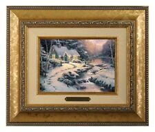 Thomas Kinkade Evening Glow Framed Brushwork (Gold Frame)