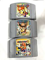 AUTHENTIC! Mario Party 1 + 2 + 3 NINTENDO 64 N64 Game Lot ALL Tested + Working!