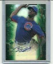 Carl Edwards JR 2014 Bowman Sterling Card RC Auto/125 GREEN REFRACTOR Autograph