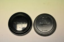 Olympus original body cap and rear lens cap for OM SLR system