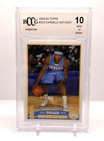 2003 Topps Carmelo Anthony Rookie Card #223 BCCG 10 Mint or Better