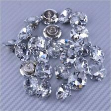 25 Stück Kristall Knopf für Sofa Kopfteil Polster Dekoration 25mm Grau