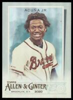 2020 Topps Allen and Ginter Hot Box Silver #88 Ronald Acuña Jr. - Atlanta Braves