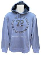 NEW NIKE Sportswear NSW Vintage Track and Field Cotton Pullover Hoodie Blue M