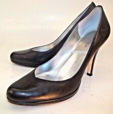 Tahari Wos Shoes Pumps Heels LOLLY US 9M Black Leather Wear to Work Dress 101