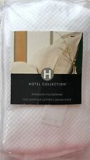 HOTEL COLLECTION GRAND PIQUE 100% EGYPTIAN COTTON STANDARD SHAM WHITE NIOP