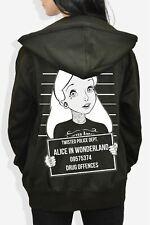 Twisted Alice Mugshot Hoodie Top Sweatshirt Punk Disney Emo Scene Tattoo