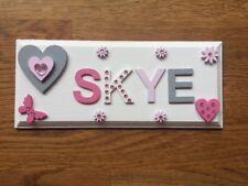 Personalised Children Bedroom Nursery Wooden Name Door Wall Sign Plaque Girl.