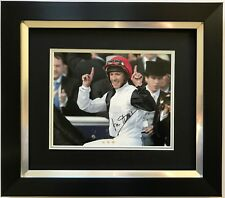 FRANKIE DETTORI HAND SIGNED GOLDEN HORN FRAMED PHOTO DISPLAY HORSE RACING 3.