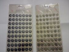 LOVE LETTERS 2XPACKS OF 63 EACH BUBBLE SELF ADHESIVE LETTER STICKERS CARDMAKING