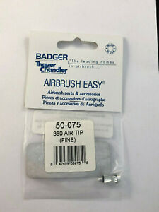Badger Airbrush Co. 50-075  350 Air Tip (Fine)   New in Package Ships Free
