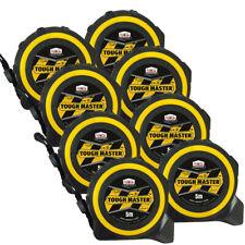Toughmaster Pocket Tape Measures Metric/Imperial 5M/16ft Anti-Impact Pack of 8