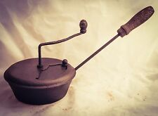 Antique COFFEE ROASTER Iron Pan Beans Grilloir Cafe Kaffeeröster Tostador caffe