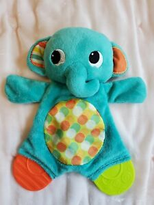 Bright Starts Teether Elephant Baby Toy Animal Lovey Crinkle