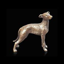 Lurcher Dog Solid Bronze Foundry Cast Detailed Sculpture Butler & Peach [2073]