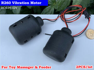 2PCS DC 6V~12V Mini R260 Strong Vibration Vibrator Motor Vibrating Toy Massager