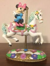 Disney Mickeys Carousel Collection Minnie Mouse on Horse Figure Jeweled Base
