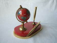 Vintage Globe Desk Pen Holder Great Quality