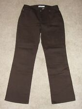 NEW Womens Chico's Platinum Brown Jeans Sz 1.5 M 10 Boot Leg Chocolate Stretch