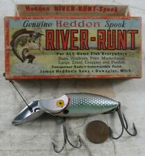 Vintage 1950's Fishing Lure Heddon Go-Deeper River-Runt in Box D 9010