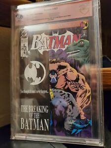 SIGNED! 4x's BATMAN #497 🦇 KNIGHTFALL DC COMICS BANE #500 DARK KNIGHT RISES