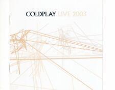 CD COLDPLAYlive 2003CD + DVD EX+ (B0816)