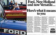 1987 Ford New Holland & Versatile 2 Page Farm Tractor Dealer Print Ad