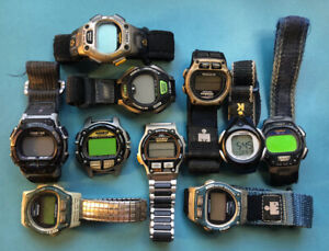 10 Mens Timex Ironman Watch Lot. Used. Selling As-Is. FPOR Untested. Good Parts