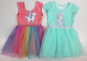 Disney Frozen Minnie Mouse Leotard Tutu Skirts Girls Size 5T READ