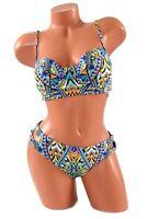 Bar III On The Monarchy 2Pc Padded Underwire Swimsuit Bikini Set Medium NWT