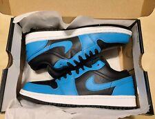New Nike Air Jordan 1 Low Reverse Laser Blue Royal Toe Size 7.5