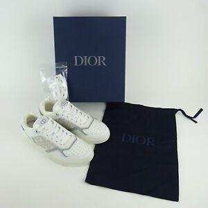 Dior White/Gray B27 LT Calf Oblique Jac Sneakers w/ Box Size 41 NEW NIB