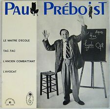 Paul Preboist 33 tours Le maitre d'école