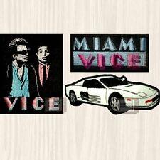 Miami Vice Patches Set Sonny Crocket Rico Ferrari Car Tv Series Logo Embroidered
