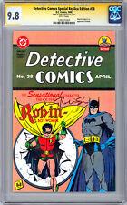 DETECTIVE COMICS #38 CGC-SS 9.8 *SIGNED ORIG ARTIST JERRY ROBINSON* REPRINT 1995