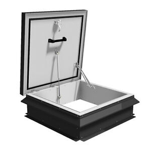 "Bilco Style - 48"" x 48"" - Roof Hatch - Thermally broken - Manual Opening"