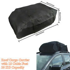 Car SUV Roof Bag 15 Cubic Feet Roof Top Cargo Carrier For Vehicles w/Roof Rails