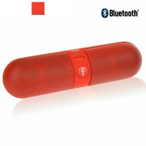 Portable Pill Shaped Bluetooth Speaker Wireless Loud Beats Travel Speaker TF USB
